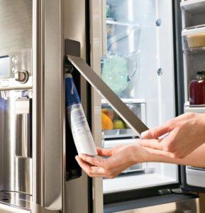 changing refrigerator water filter