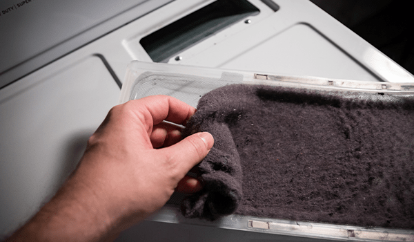 get dryer sheet residue off lint screen