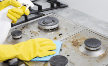 how to clean gas stove grates